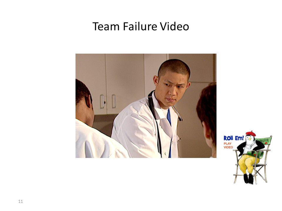 11 Team Failure Video