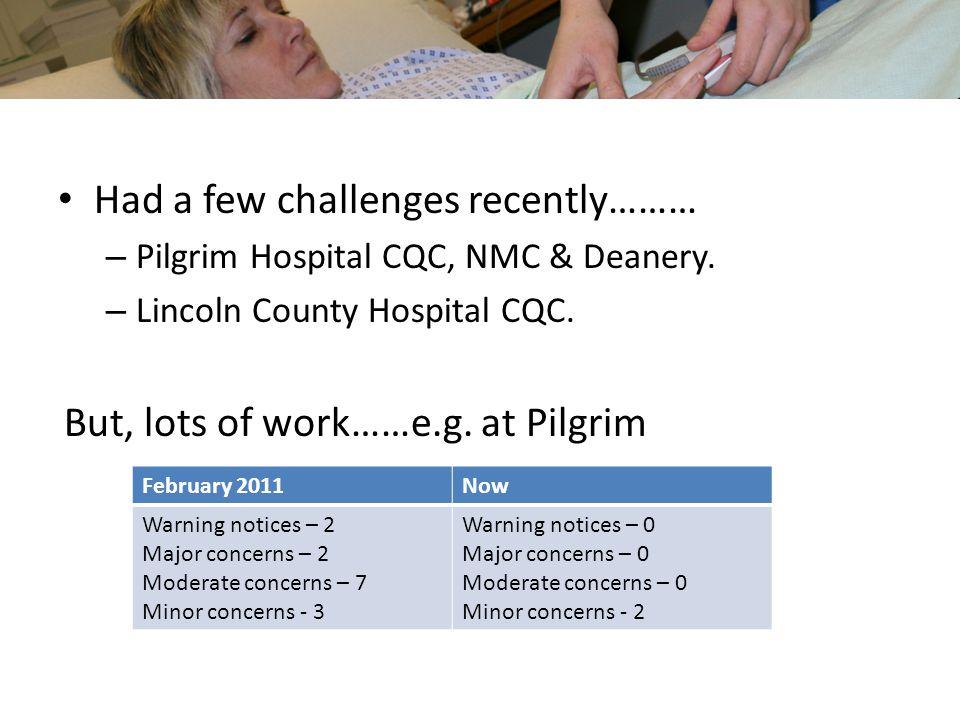 Had a few challenges recently……… – Pilgrim Hospital CQC, NMC & Deanery.