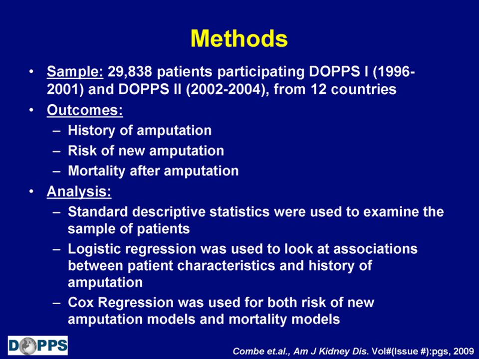Baseline Patient Characteristics Associated with Prior Amputation (5)