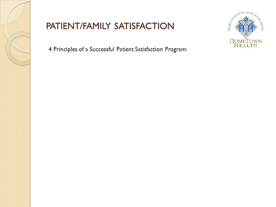 4 Principles of a Successful Patient Satisfaction Program: