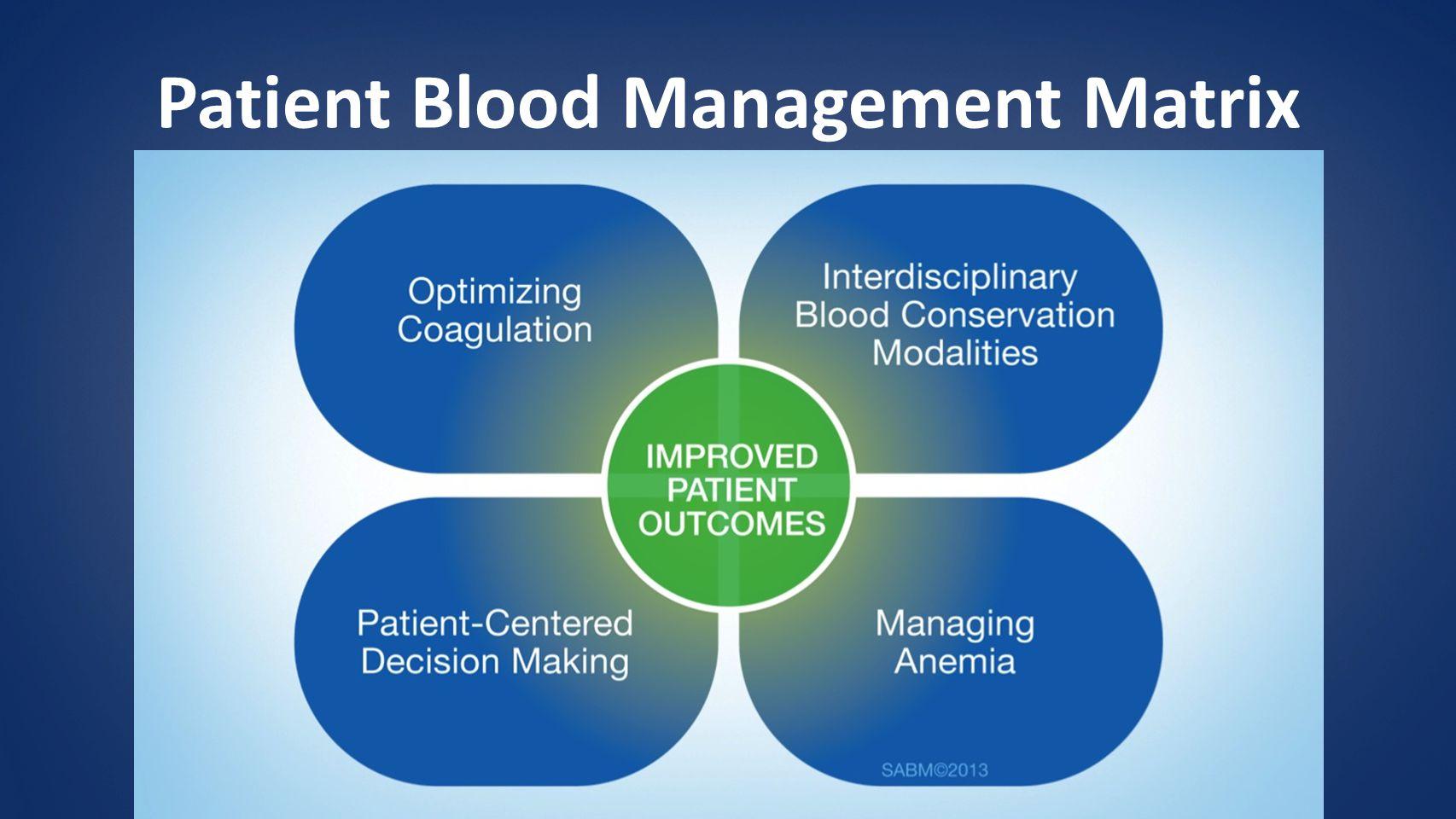 Patient Blood Management Matrix
