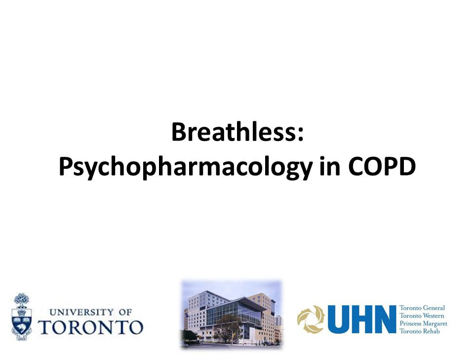 Breathless: Psychopharmacology in COPD