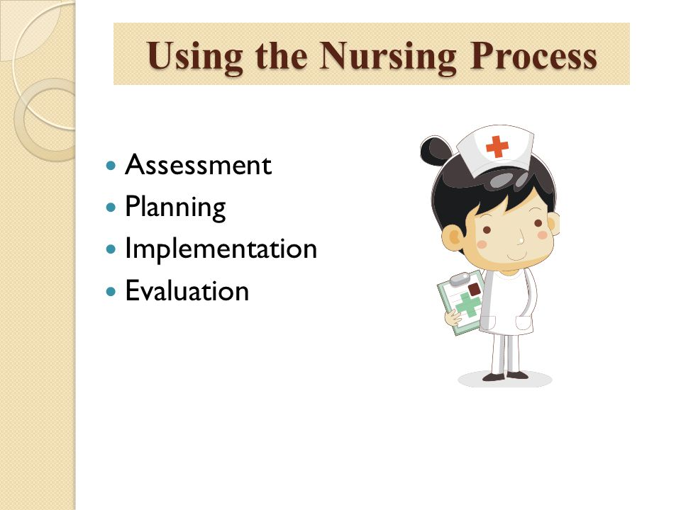 Using the Nursing Process Assessment Planning Implementation Evaluation