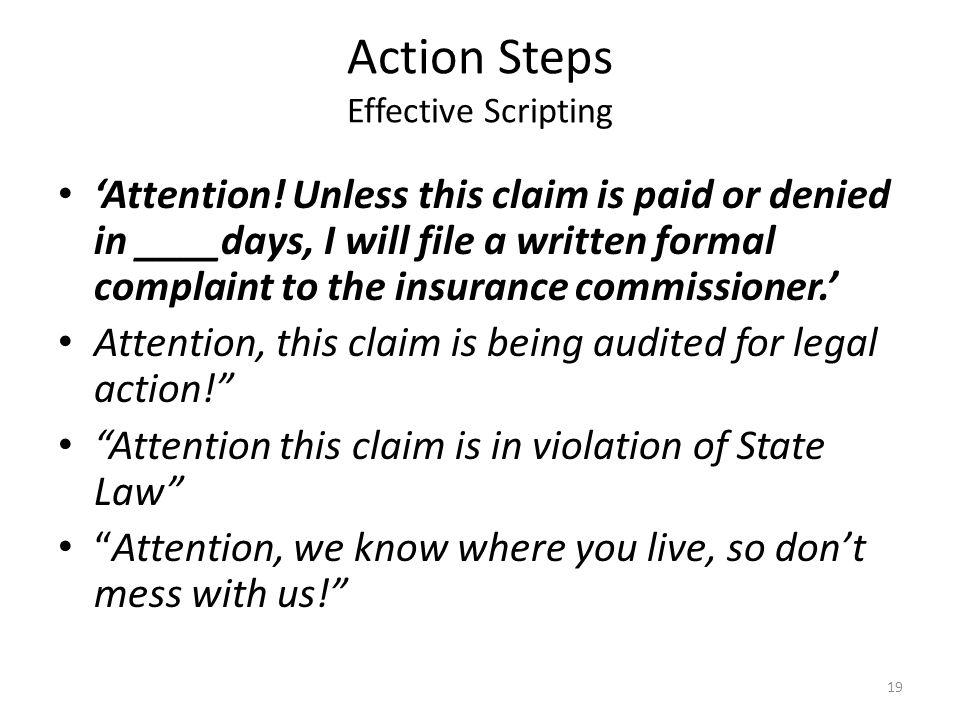 Action Steps Effective Scripting 'Attention.