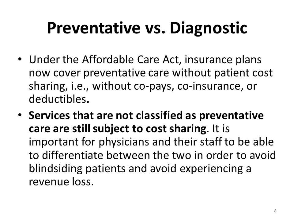 Preventative vs.