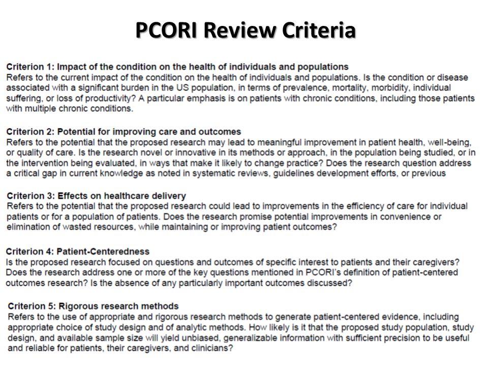 PCORI Review Criteria