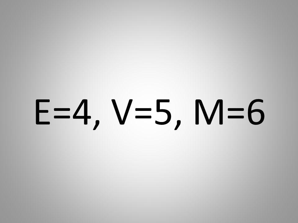 E=4, V=5, M=6