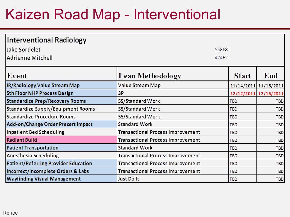 Kaizen Road Map - Interventional Renee