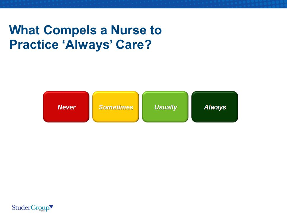 What Compels a Nurse to Practice 'Always' Care?