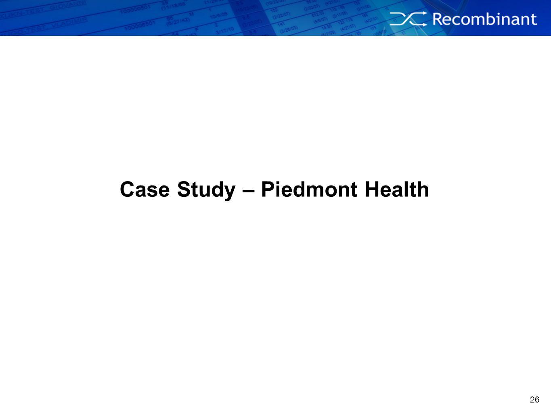 26 Case Study – Piedmont Health