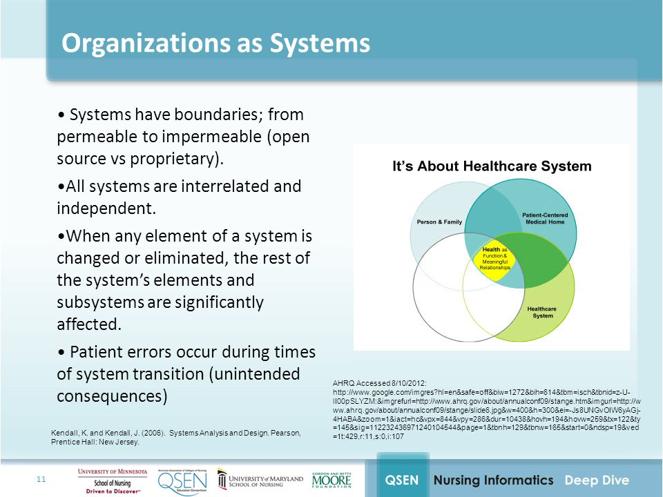 11 Organizations as Systems Systems have boundaries; from permeable to impermeable (open source vs proprietary).