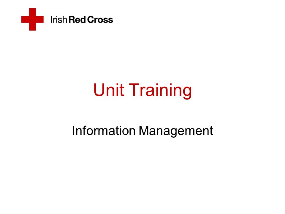 References Irish Red Cross SOP's Patient Care Reporting ver.
