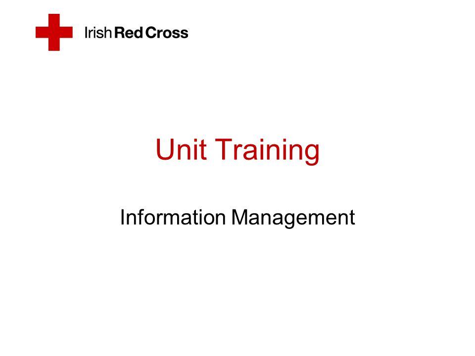 Unit Training Information Management