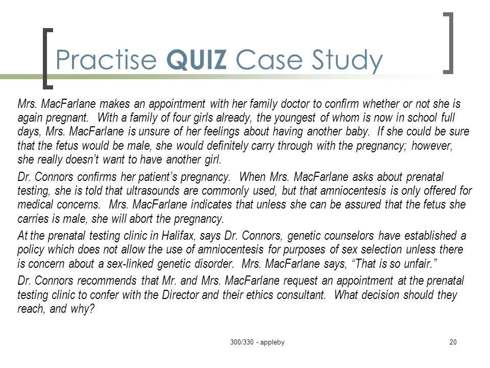 Practise QUIZ Case Study Mrs.