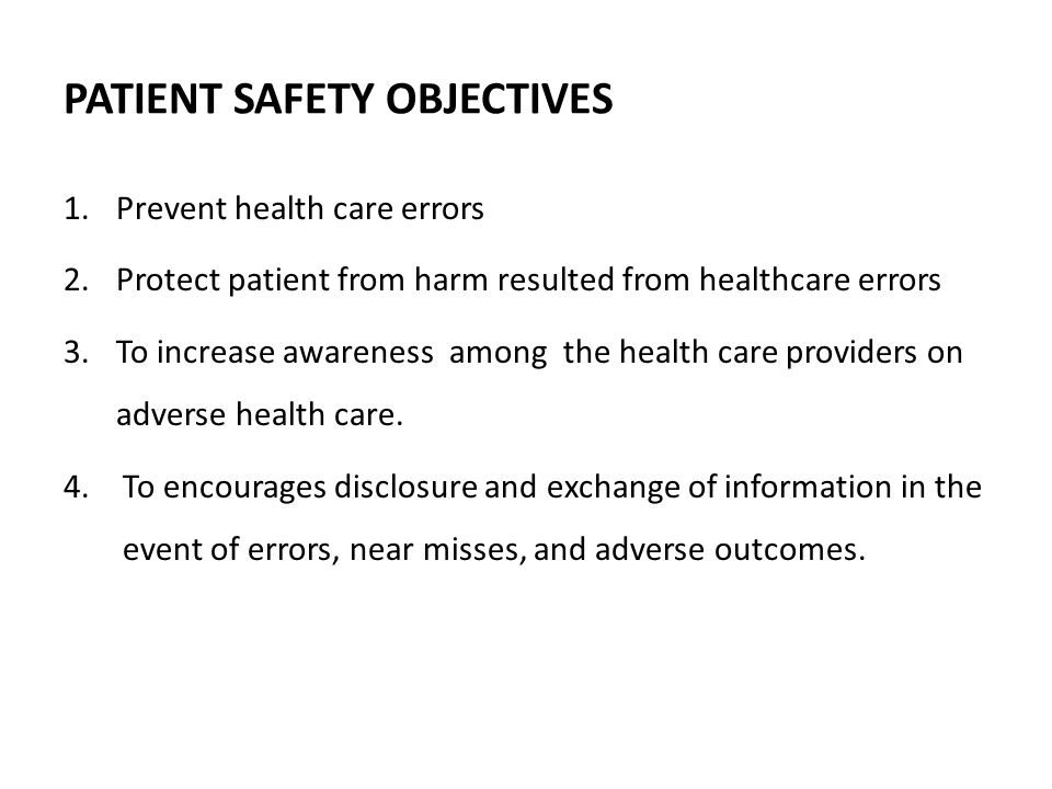 DEFINITION Patient safety is a subset of quality healthcare that emphasizes the reporting, analysis, and prevention of medical error that often leads to adverse healthcare.