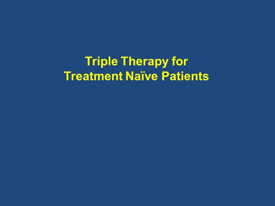 Triple Therapy for Treatment Naïve Patients