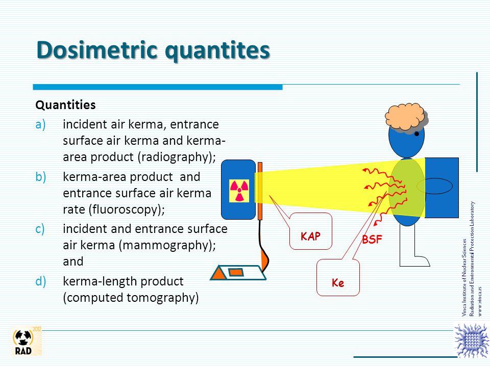 Dosimetric quantites Vinca Institute of Nuclear Sciences Radiation and Environmental Protection Laboratory www.vinca.rs BSF KAP Ke Quantities a)incide
