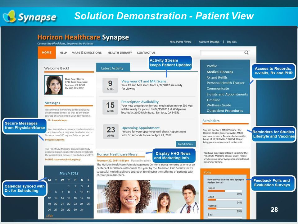 Solution Demonstration - Patient View 28