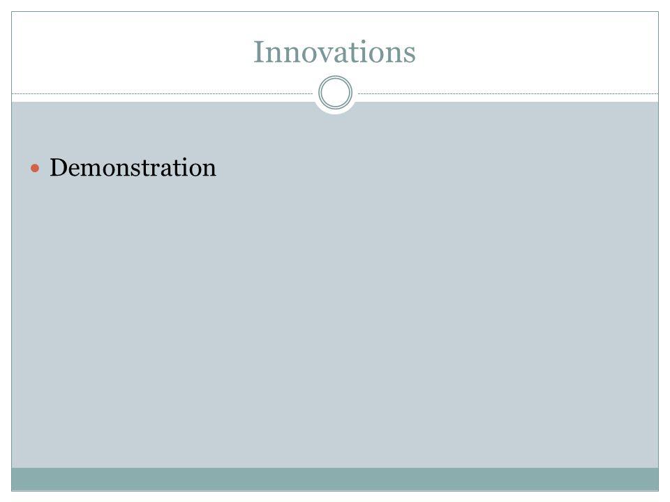 Innovations Demonstration