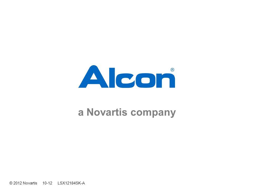 a Novartis company © 2012 Novartis 10-12 LSX12184SK-A