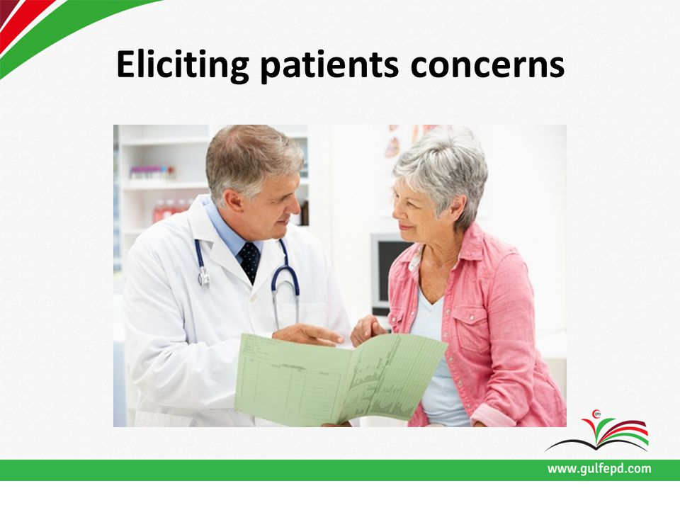 Eliciting patients concerns