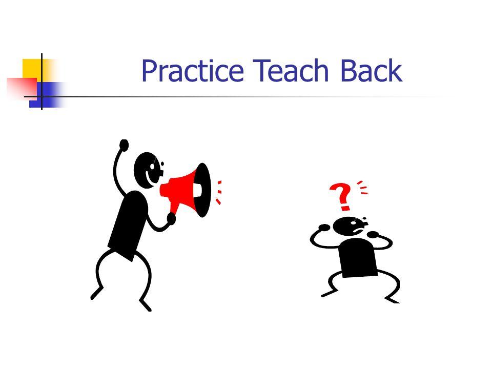 Practice Teach Back