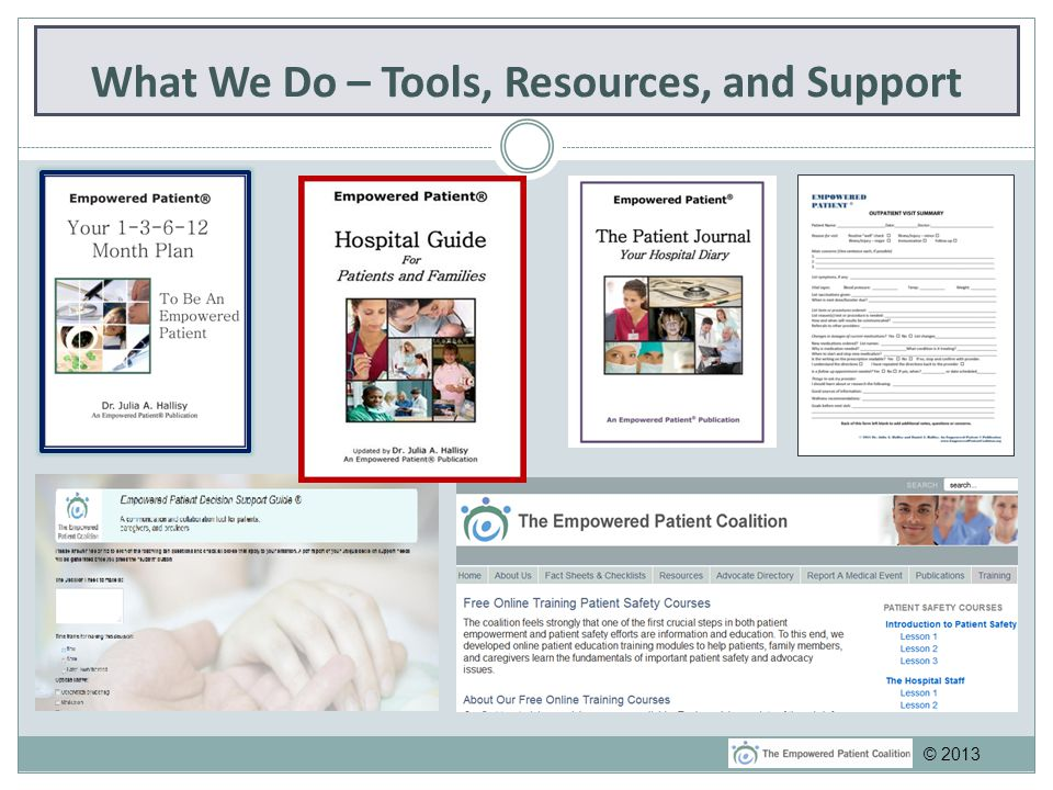 What We Do – Tools, Resources, and Support © 2013