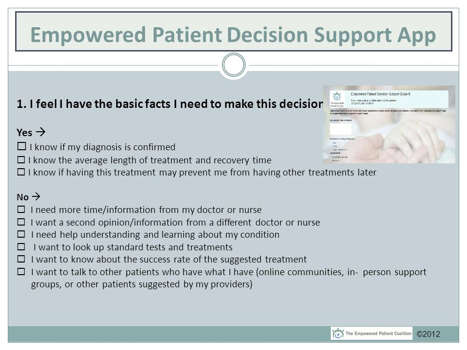 Empowered Patient Decision Support App 1.