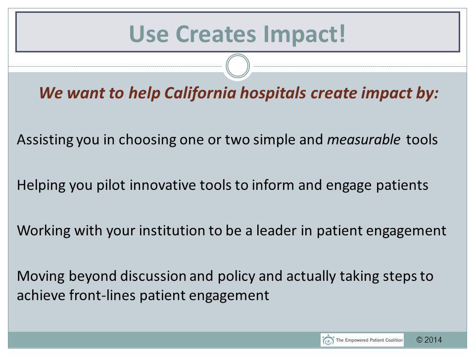 Use Creates Impact.