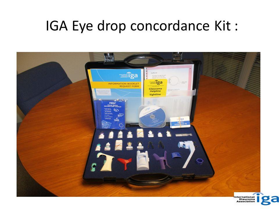 IGA Eye drop concordance Kit :