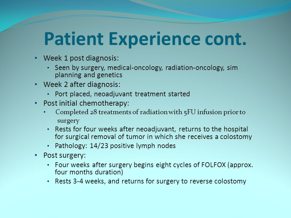Patient Experience cont.