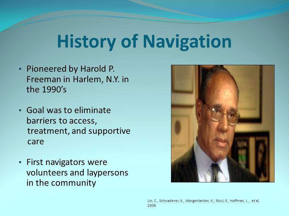 History of Navigation Pioneered by Harold P. Freeman in Harlem, N.Y.