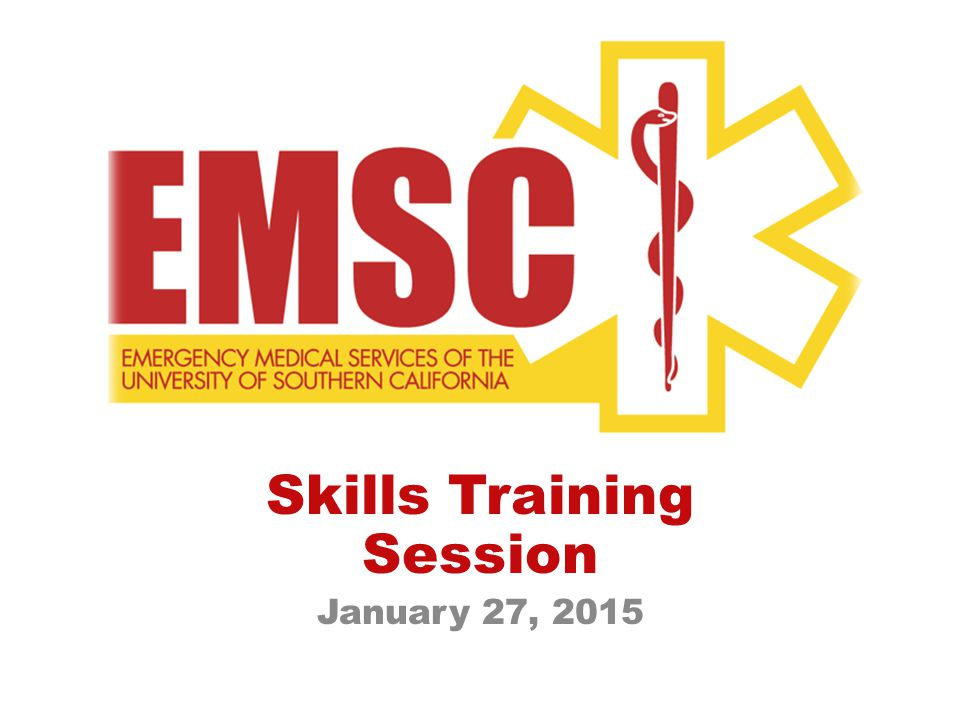 Skills Training Session January 27, 2015