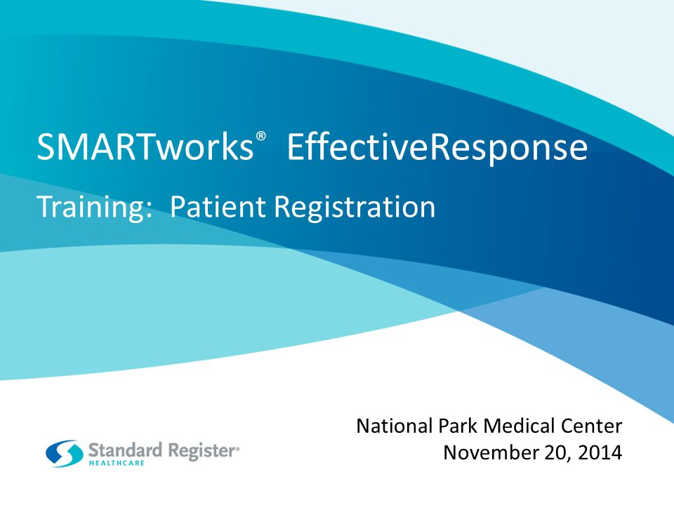 Training: Patient Registration Objectives of the patient follow-up program Overview of how SMARTworks ® EffectiveResponse works Script/conversation to have with patients Review of the Patient Survey – the experience that patients will have with SMARTworks ® EffectiveResponse Questions Agenda 2