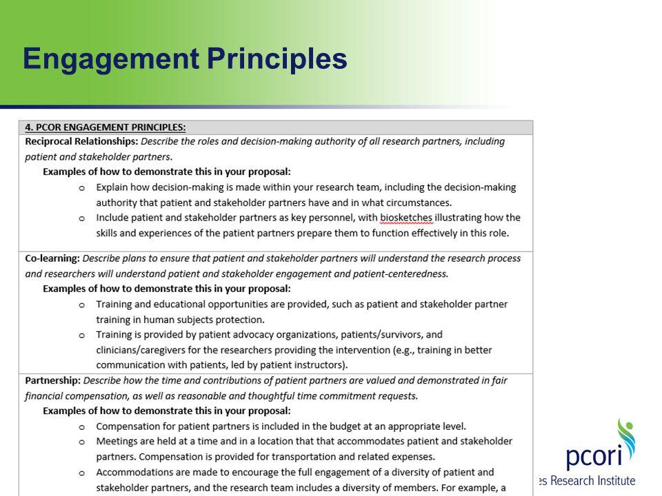 Engagement Principles