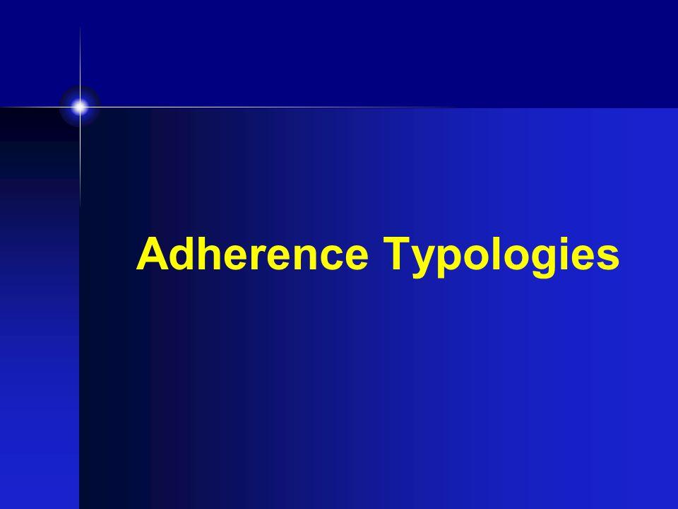Adherence Typologies