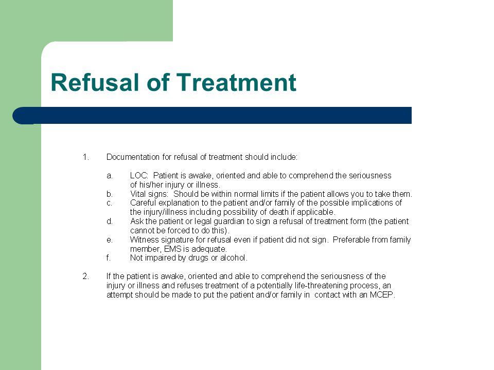 Refusal of Treatment