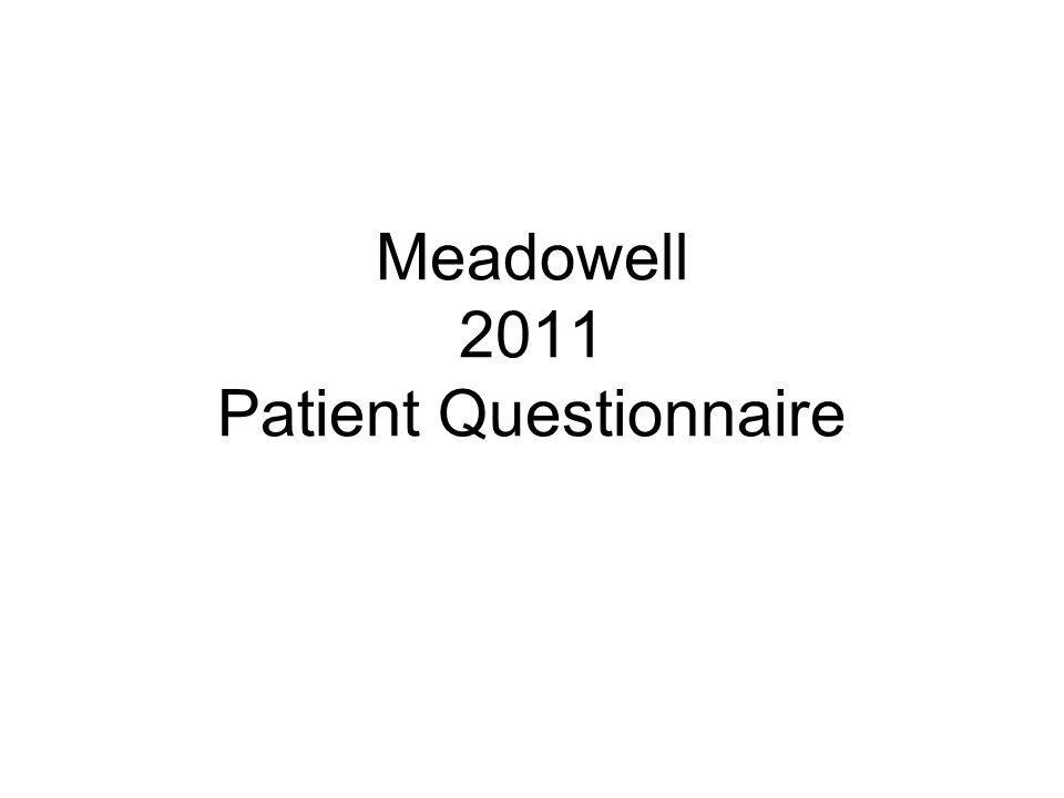 Meadowell 2011 Patient Questionnaire