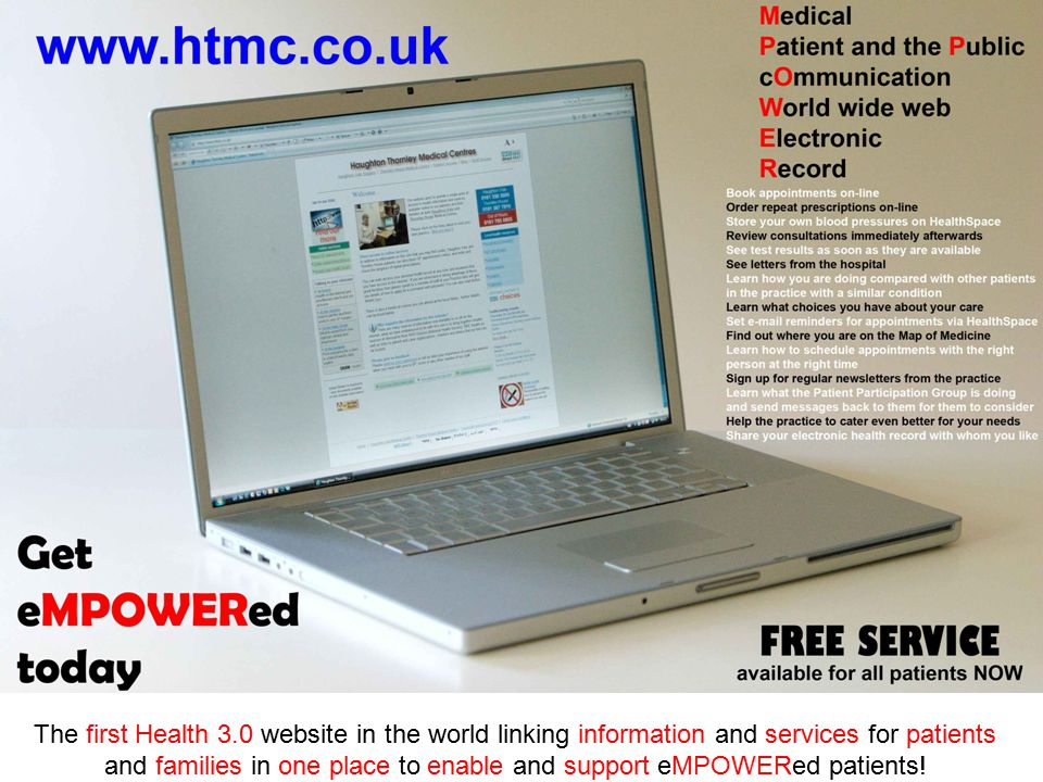 The first Health 3.0 website in the world linking information and services for patients and families in one place to enable and support eMPOWERed patients!