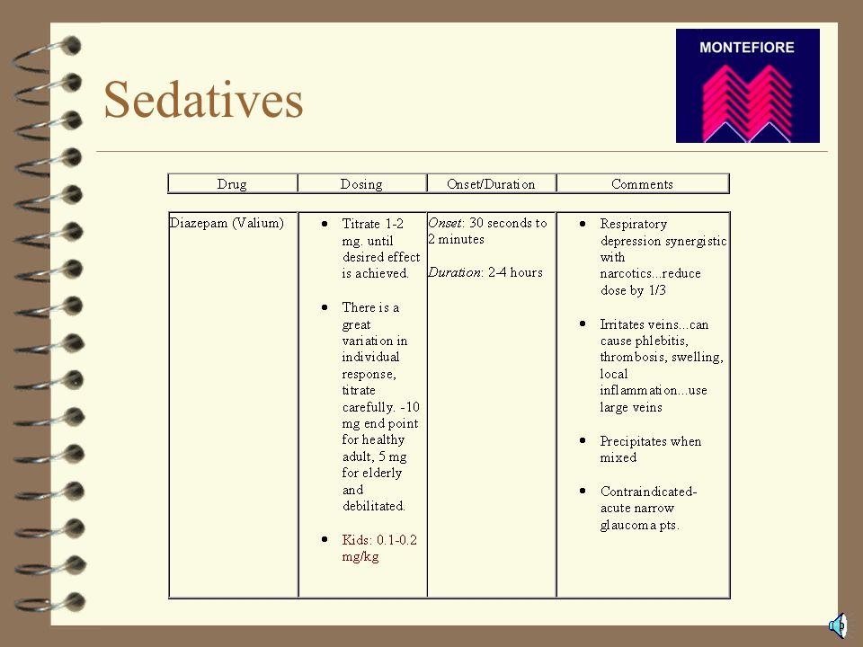 Medications 4 Sedatives 4 Narcotics 4 Reversal Agents