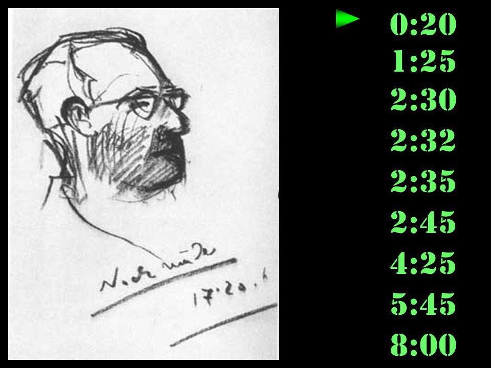 0:20 1:25 2:30 2:32 2:35 2:45 4:25 5:45 8:00