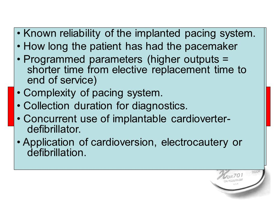 Current cannot reach heart Increased Resistance Decreased Current Drain Pacing and sensing problems