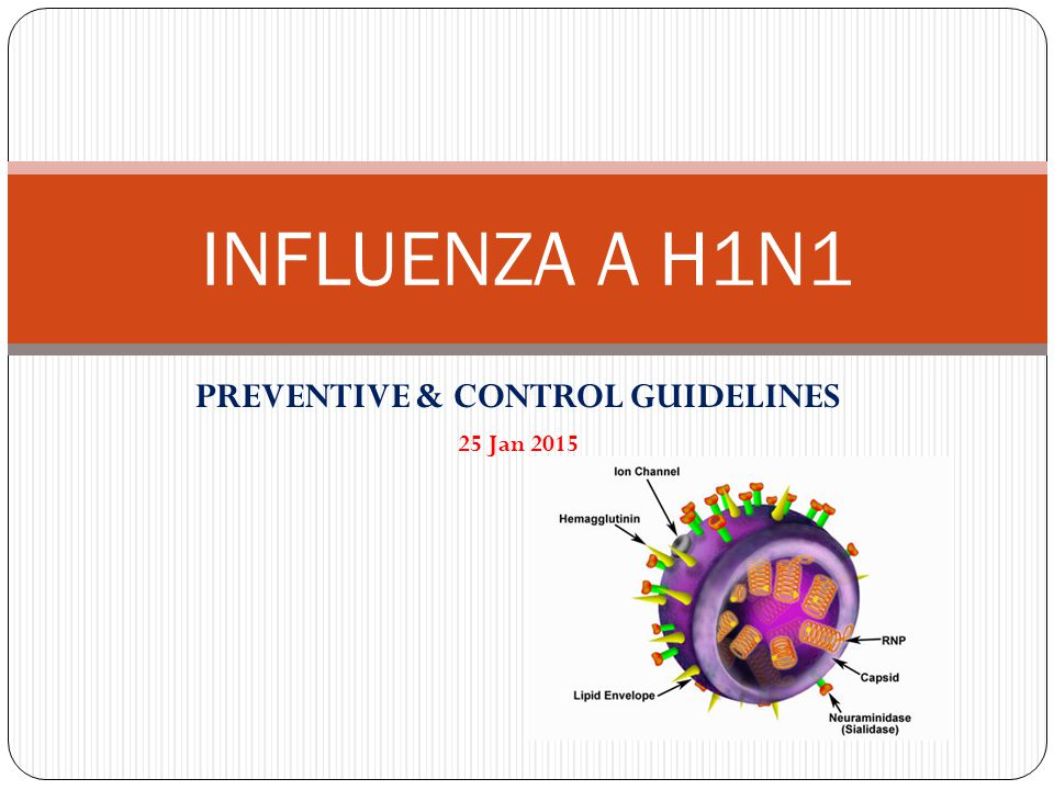 INFLUENZA A H1N1 PREVENTIVE & CONTROL GUIDELINES 25 Jan 2015
