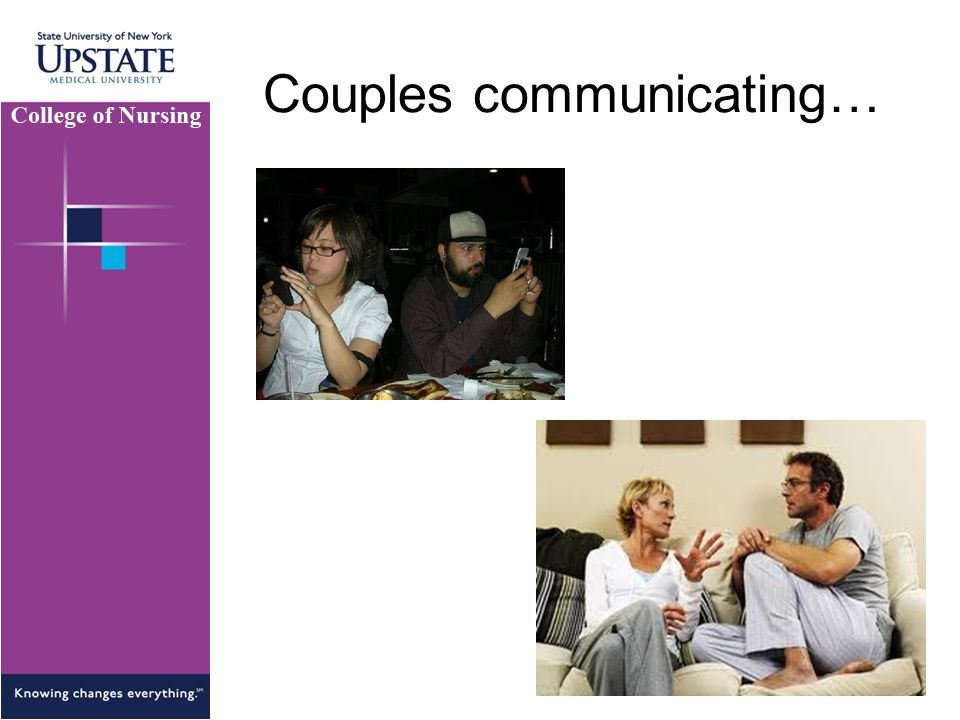 Couples communicating…