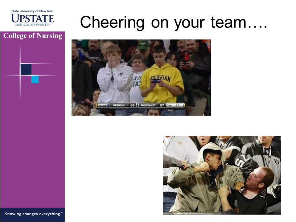 Cheering on your team….