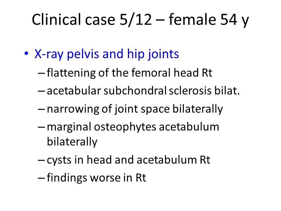 X-ray of Rt leg – deformed bone – bony sequestra cannot be excluded – appropriate use of CT Clinical case 8/12 – male 45 y
