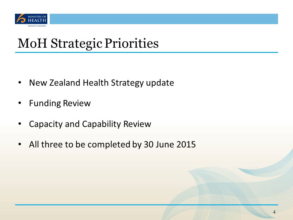 5 Direction of travel for the NZ Health system