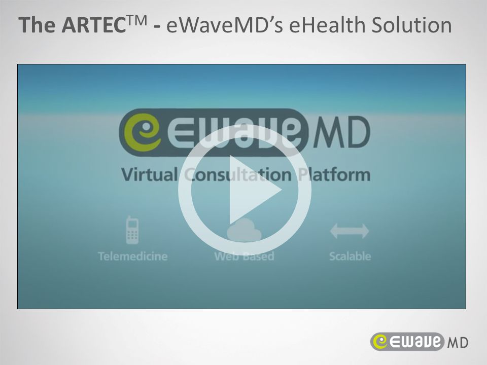 The ARTEC TM - eWaveMD's eHealth Solution