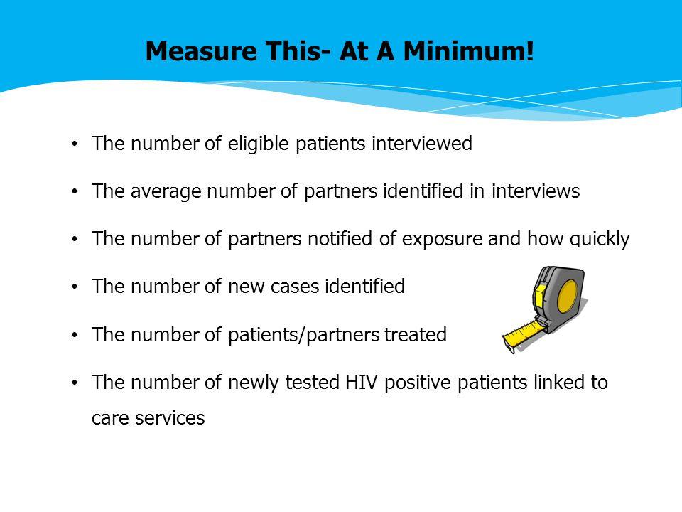 Measure This- At A Minimum.