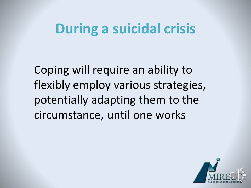 Let's take a moment to talk specifically about coping…